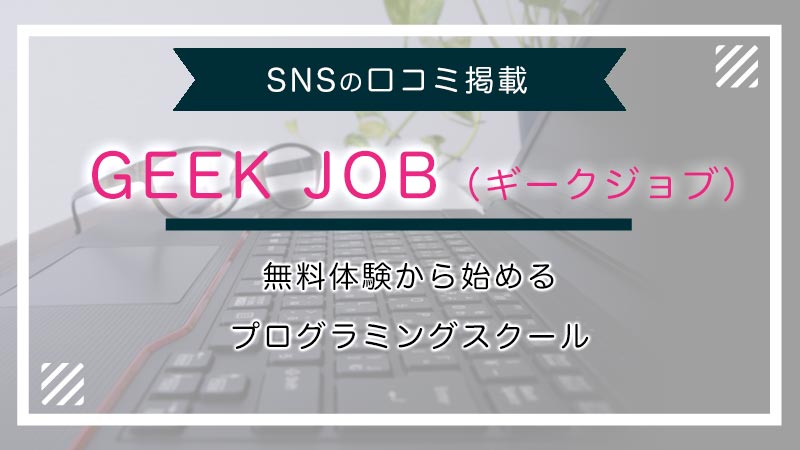 GEEK JOB評判
